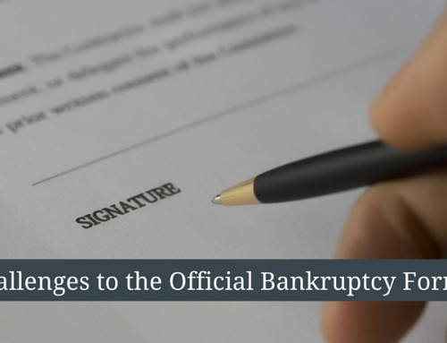 Changes to the Official Bankruptcy Forms Beginning December 1, 2015