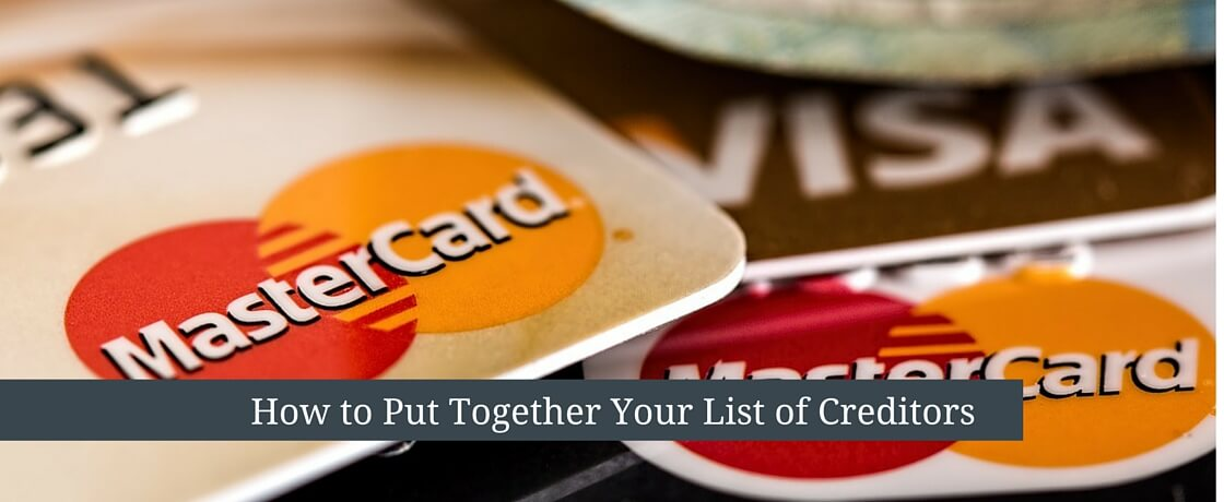 How to Put Together a List of Creditors - Ohio Estate Attorney