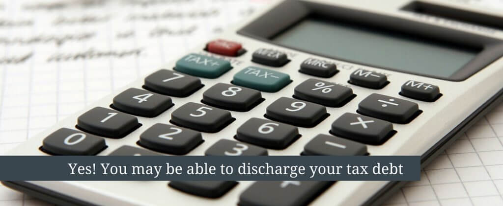discharging tax debt
