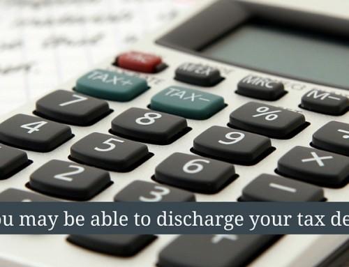 Discharging Tax Debt in Bankruptcy